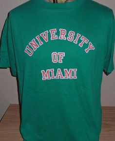 vintage 1980s University of Miami Hurricanes t shirt size XL by vintagerhino247 on Etsy