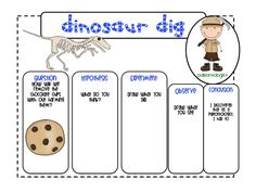 A First Grade Fairy Tale: Dino digging.....chocolate chip cookies.... and fossils