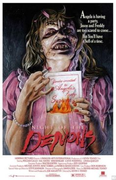 Series of Limited Edition 'Night of the Demons' Posters Pays Tribute to Original Art Horror Movie Posters, Horror Movies, Night Of The Demons, Demon Art, Best Horrors, Creature Feature, Nightmare On Elm Street, Scary Movies, Horror Art