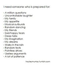 and I think I've found someone that fits all these!!