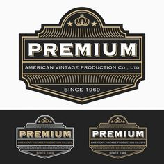 Elegant labels design Free Vector