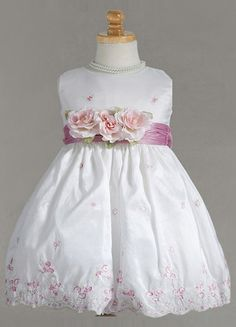 nice BC886 Sleeveless dress with flowery hand sewn balloon skirt