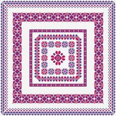 Cushion Cover Free Cross Stitch Pattern