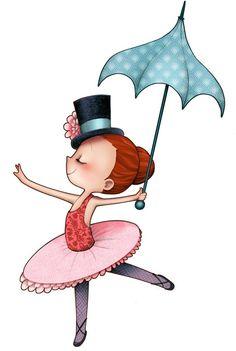 sticker infantil dancerina