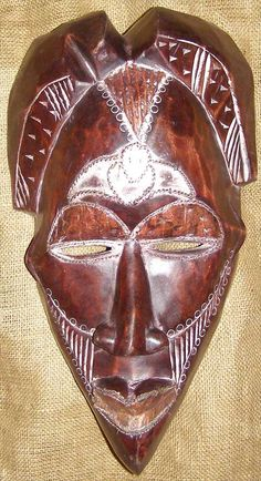 African mask of the Tikar people from Cameroon.