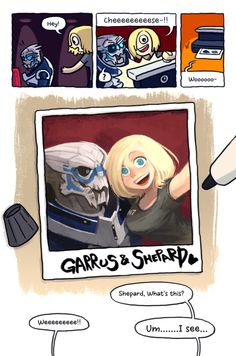 Mass Effect Shepard x Garrus Mass Effect Ships, Mass Effect Garrus, Mass Effect Art, My Favorite Image, My Favorite Things, Mass Effect Universe, Fandom Games, Commander Shepard, Furry Comic
