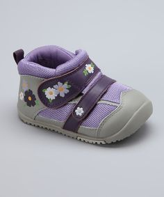 Take a look at the MOMO Baby Purple Field of Flowers Sneaker on #zulily today!