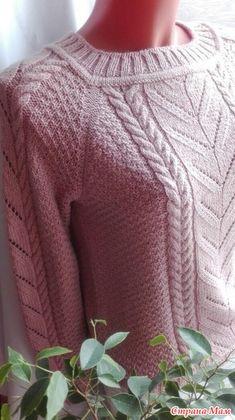 Пуловер цвета пудры - Вязание - Страна Мам