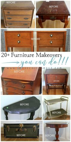 Super Easy Way to Update Wood Stained Furniture - Artsy Chicks Rule®