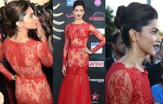 Deepika Padukone on the green carpet of IIFA Awards 2014@beautyandfashionfreaks6
