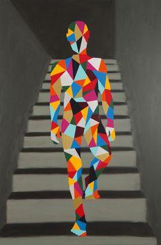 Pedro Paricio, Pedro (Naked at Stairs) © Halcyon Gallery