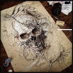 awesome tattoo inspiration - <3 skulls!