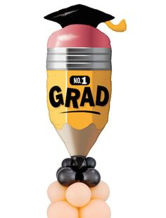 Stay Sharp, Grad! by CBA Cam Woody of Pioneer Balloon Co.
