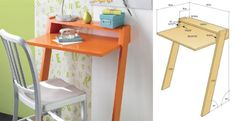 Mobile desk idea to keep you organized if you're short on space.