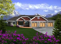 Elevation of Ranch   House Plan 97363