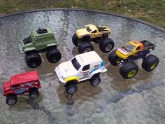 Truck 4x4 Toy Plastic Metal Off Road Monster Trucks Vehicle Toy Cars Lot Of 5 #Unbranded