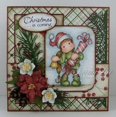 Christmas Pop-Up Book Card (view 1 of 2 - card front)