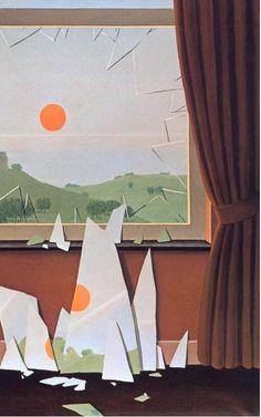 ルネ・マグリット 「日は暮れるⅡ」 Rene' Magritte: Le Soir qui tombe Ⅱ, 1964 部分 ~ Rene MagritteMore Pins Like This At FOSTERGINGER @ Pinterest