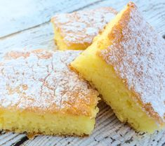 Two Ingredient Lemon Bars ~ Angel food cake and lemon pie filling, or maybe try some lemon curd!
