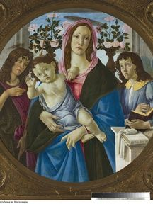 Sandro Botticelli, Madonna and Child with St. John and Angel: Muzeum Narodowe w Warszawie (CC BY-SA)