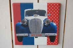 Blauwe auto   jongenskamer   Cindesignshop