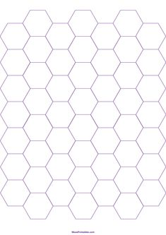 Printable Inch Purple Hexagon Graph Paper for Paper Templates Printable Free, Printable Paper, Printables, Hexagon Patchwork, Hexagon Pattern, Small Sewing Projects, Mandala Coloring Pages, Paper Piecing Patterns, A4 Paper