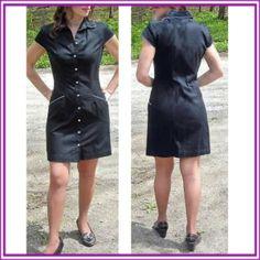 """$14.99 Express Stretch Dress Pretty Navy Size 5/6 Free Shipping"" by phatzplace on Polyvore"