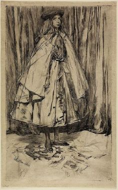 Annie Haden, 1860  James Abbott McNeill Whistler  Etching and drypoint;  Hunterian Art Gallery, University of Glasgow