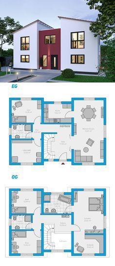 Illius 176 - schlüsselfertiges Massivhaus 2-geschossig #spektralhaus #ingutenwänden #2geschossig #Grundriss #Hausbau #Massivhaus #Steinmassivhaus #Steinhaus #schlüsselfertig #neubau #eigenheim #traumhaus #ausbauhaus