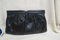 Vintage Leather Morris Moskowitz Hand Bag Shoulder Bag Black by KansasKardsStudio on Etsy