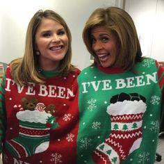 Hoda Kotb & Jenna Bush Hager from Stars in Ugly Holiday Sweaters | E! Online