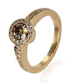 Cinnamon Diamond Cluster Ring.