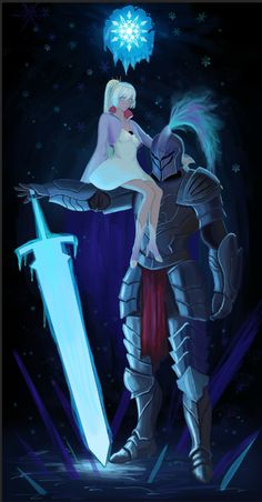 RWBY: Weiss & The Knight Is this a Fate: reference? Looks like Berserker / panophotography. Rwby Weiss, Rwby Oc, Team Rwby, Rwby Fanart, Rwby Anime, Tsundere, Rwby Wallpaper, Red Like Roses, Rwby Characters