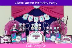 Glam Doctor Party Package / Doc Mcstuffins by UnlimitedPartyThemes, $49.99