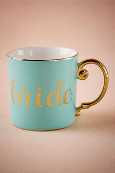 BHLDN Bride Mug in  Décor Gifts Gifts Under $50 at BHLDN
