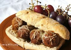 Cooking With Libby: Bavarian Style Meatball Subs with Sister Schubert ...