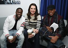 Brooke Shields Photos - Kevin Hart, Brooke Shields and SiriusXM host Sway Calloway pose for a photo at the SiriusXM Studios on January 13, 2016 in New York City. - SiriusXM 'Town Hall' with Kevin Hart, Ice Cube and Olivia Munn