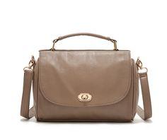 Women's Brown PU Across Body Bag