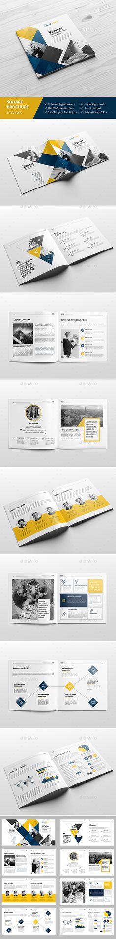 Haweya Square Brochure Template InDesign INDD