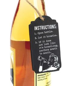 Look at this 'Mouth' Chalkboard Wine Tag on #zulily today!