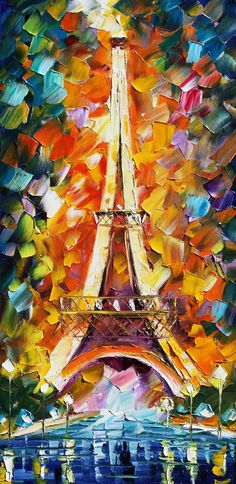 Eiffel Tower with color