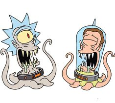 Rick and Morty x The Simpsons Dope Cartoons, Watch Cartoons, Disney Cartoons, Easy Doodles Drawings, Simple Doodles, Graffiti Characters, Iconic Characters, Rick And Morty Time, Rick And Morty Crossover