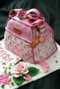"""COACH BAG"" Cake...It's a Cake, it's a Coach Purse, and it's PINK.. Welcome to my Heaven.."
