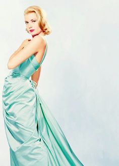 Grace Kelly in a gorgeous aqua gown