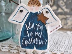 "Wholesale Baptism Favors Salt Dough Ornaments – tagged ""asking godfather"" – Cookie Dough Creations"
