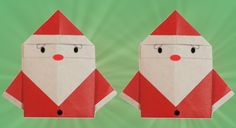 Enfeites de Natal em Origami: Papai Noel1