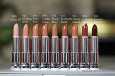 Maybelline Color Sensational The Buffs lipsticks. Really want to get Espresso Exposed, Untainted Spice, Maple Kiss, Truffle Tease, Touchable Taupe, and Sin-a-Mon.