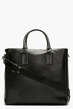 73d3fc920a Dolce   Gabbana Black Pebbled Leather Tote for men