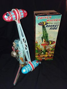 Vintage 1950's Japan Battery Operated Twirly Whirly Tin