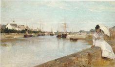 Morisot, Gezicht op de kleine haven van Lorient, 1869